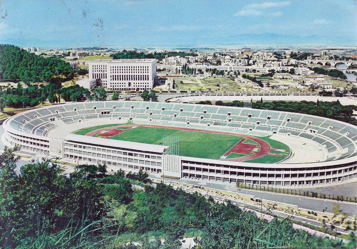 Стадио Олимпико в 1950-е